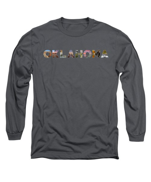 Oklahoma Typography Long Sleeve T-Shirt