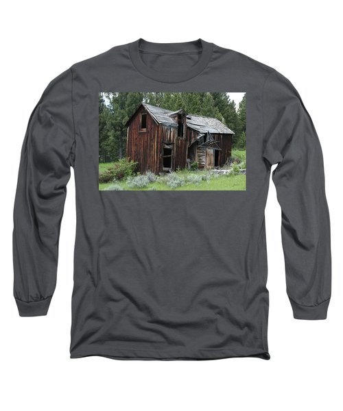 Old Cabin - Elkhorn, Mt Long Sleeve T-Shirt