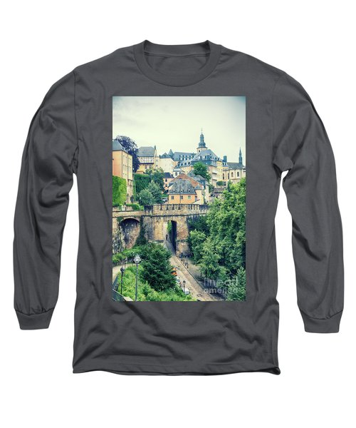 old city Luxembourg from above Long Sleeve T-Shirt