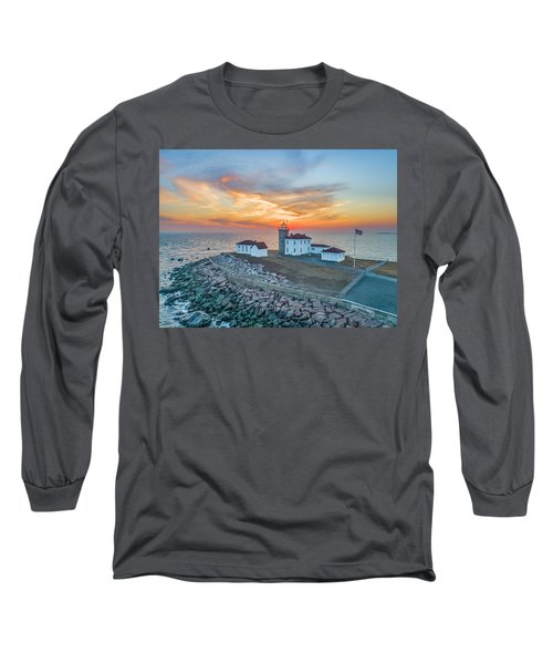 Orange Dreamsicle At Watch Hill Long Sleeve T-Shirt