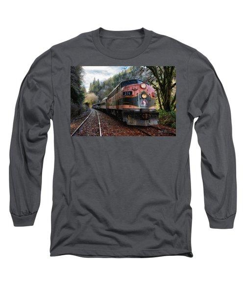 Oregon Coast Railroad Long Sleeve T-Shirt