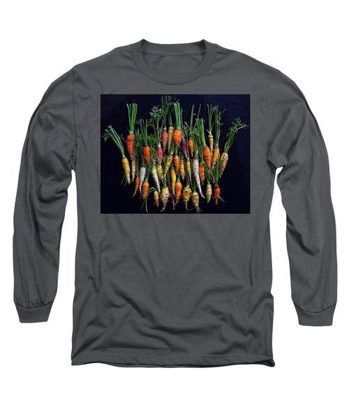 Organic Rainbow Carrots Long Sleeve T-Shirt