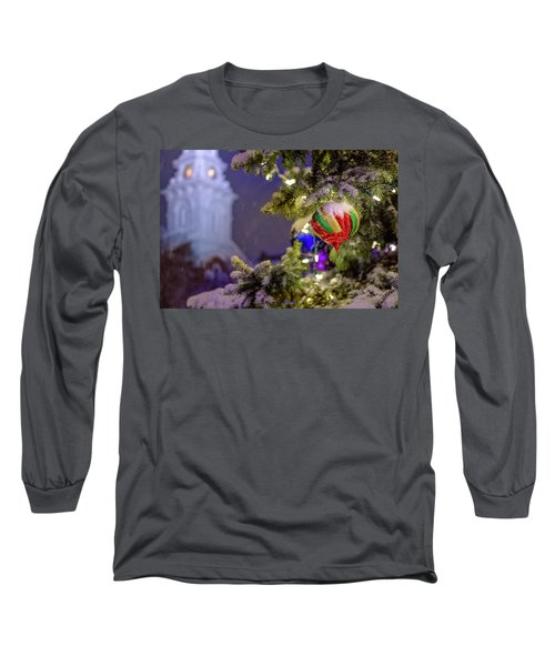Ornament, Market Square Christmas Tree Long Sleeve T-Shirt