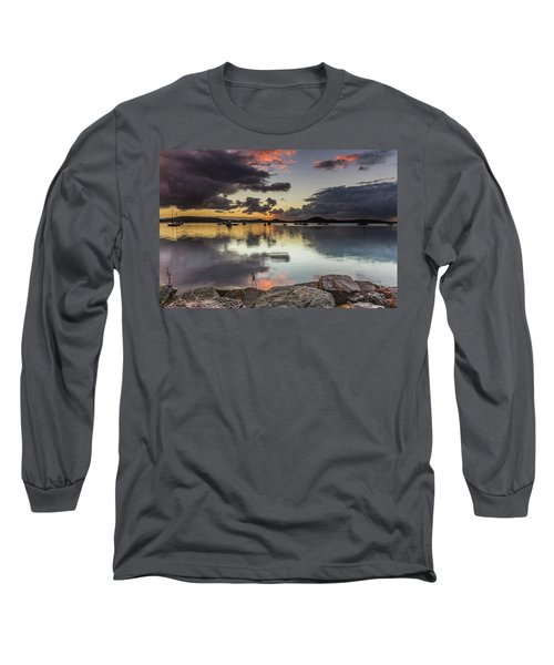 Overcast Waterscape With Hints Of Colour Long Sleeve T-Shirt