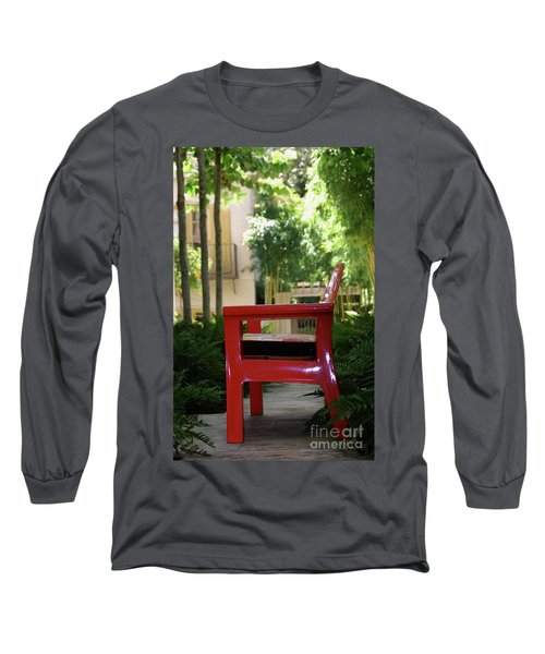 Painted Red Chair Long Sleeve T-Shirt