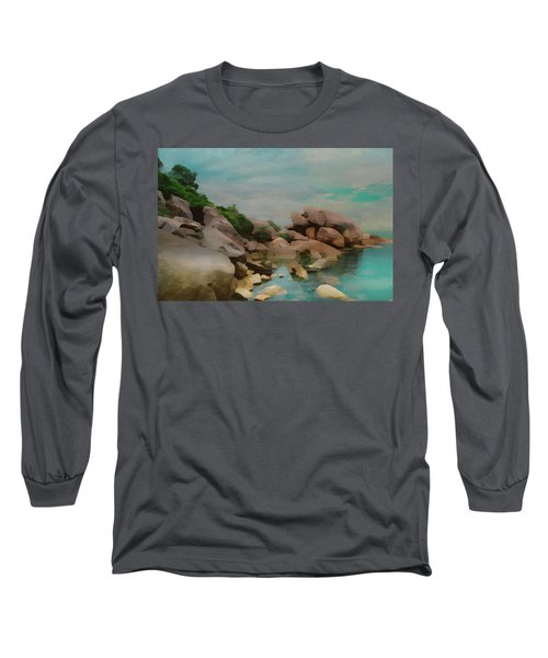 Painted Rocks At Full Tide Long Sleeve T-Shirt
