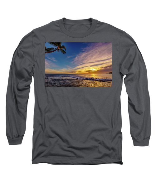 Palm Wave Sunset Long Sleeve T-Shirt