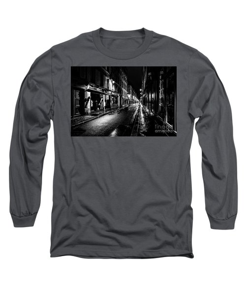 Paris At Night - Rue De Vernueuil Long Sleeve T-Shirt