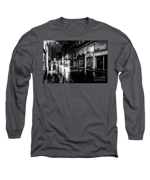 Paris At Night - Rue Saints Peres Long Sleeve T-Shirt