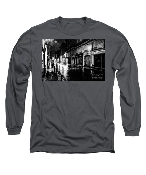 Paris At Night - Rue Saints Peres Long Sleeve T-Shirt