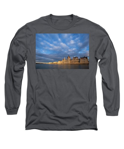 Parliament On The Danube Long Sleeve T-Shirt