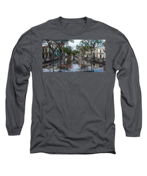 Paseo Del Prado After A Rain, Havana Long Sleeve T-Shirt