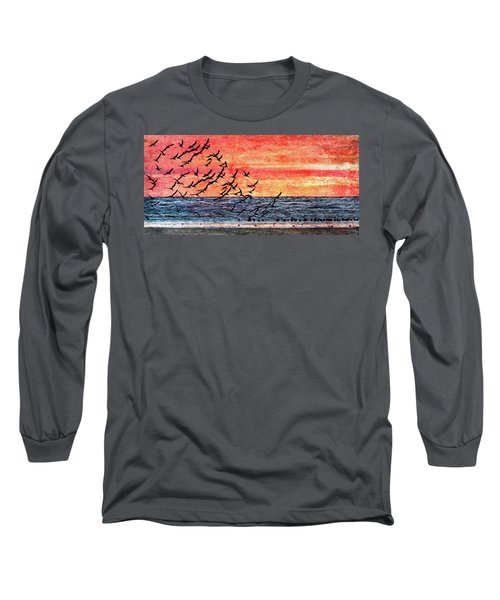 Patriotic Sunrise Long Sleeve T-Shirt