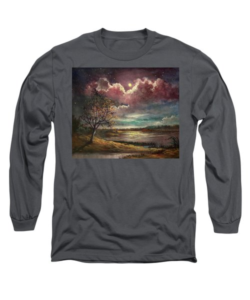 Pearl Of The Night Long Sleeve T-Shirt