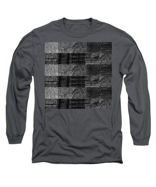 Pencil Scribble Texture 1 Long Sleeve T-Shirt