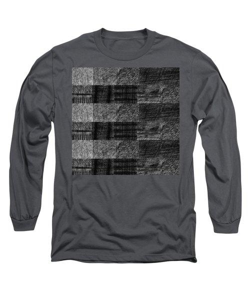 Pencil Scribble Texture 1 Long Sleeve T-Shirt