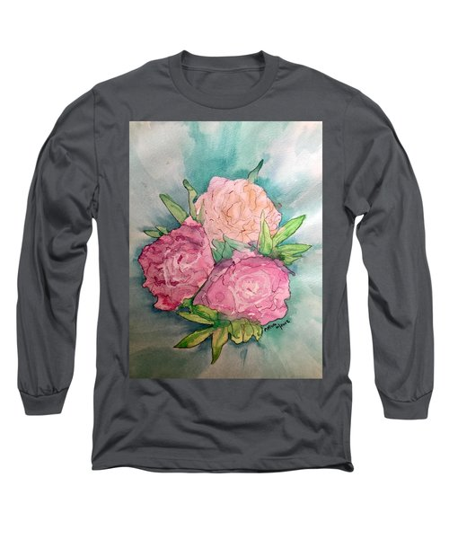 Peonie Roses Long Sleeve T-Shirt