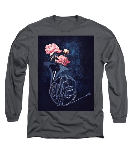 Peonies In A Trumpet Long Sleeve T-Shirt