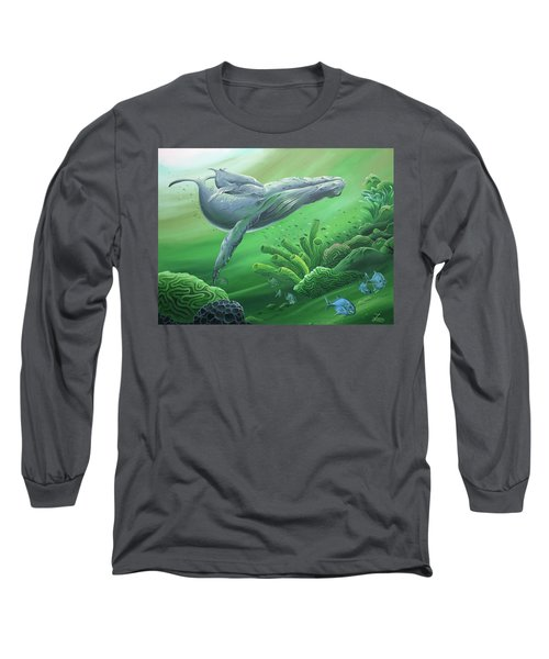 Long Sleeve T-Shirt featuring the painting Phathom by William Love