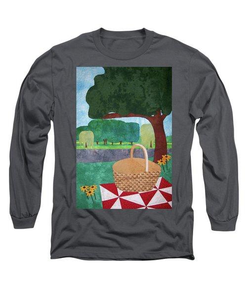 Picnic At Ellis Pond Long Sleeve T-Shirt