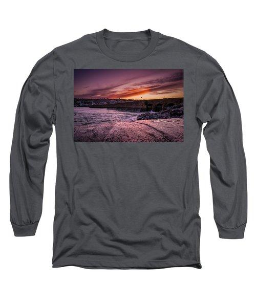 Pier To Pier Sunset Long Sleeve T-Shirt