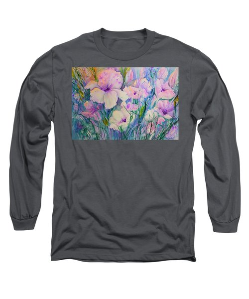Spring Flower Medley Pink And Purple Long Sleeve T-Shirt