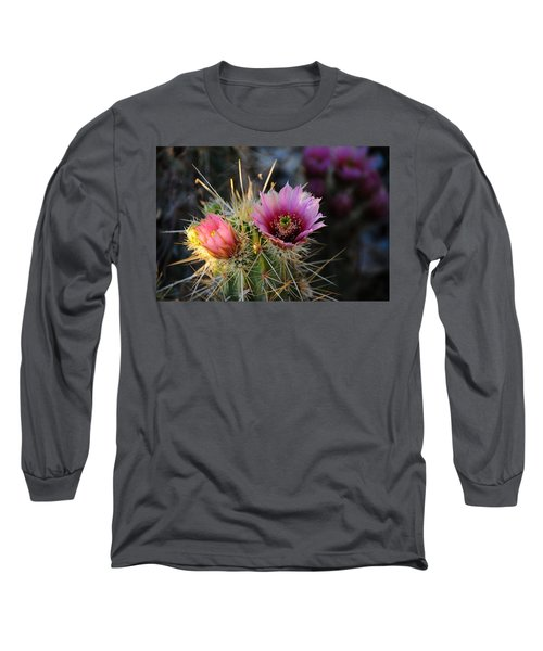 Pink Cactus Flower Long Sleeve T-Shirt