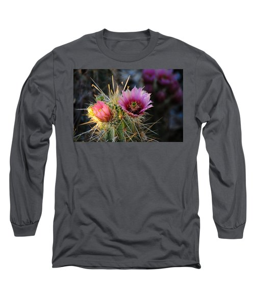 Pink Cactus Flower Long Sleeve T-Shirt