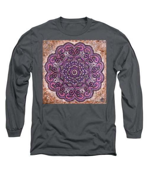 Pink Mandala Long Sleeve T-Shirt