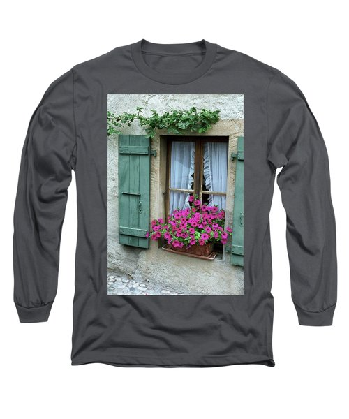 Pink Window Box Long Sleeve T-Shirt