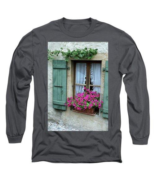 Pink Window Box Long Sleeve T-Shirt