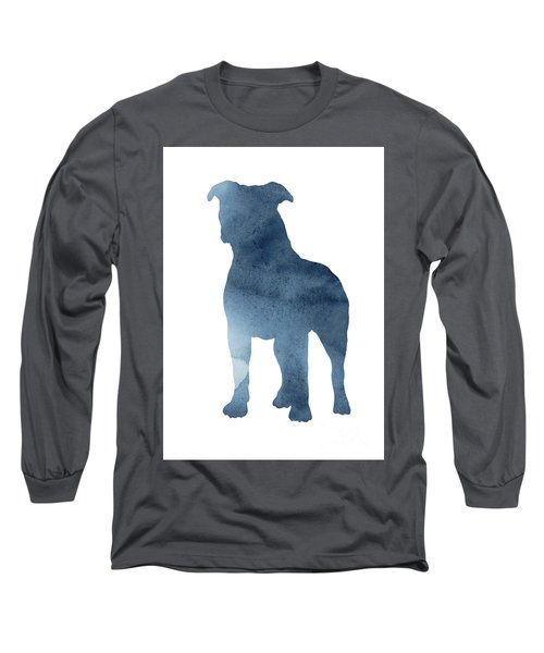 Pitbull Picture Staffordshire Bull Terrier Paintings Dog Poster Long Sleeve T-Shirt