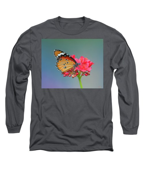 Plain Tiger Or African Monarch Butterfly Dthn0246 Long Sleeve T-Shirt