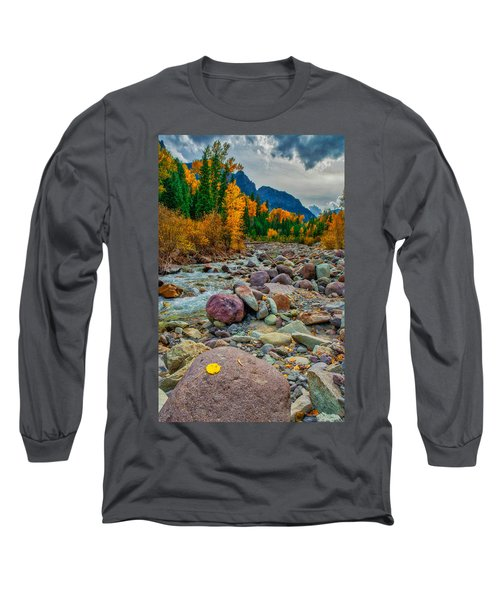 Point Of Color Long Sleeve T-Shirt