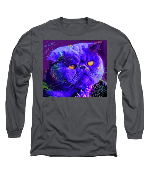 pOpCat Captain Blue Chip Long Sleeve T-Shirt