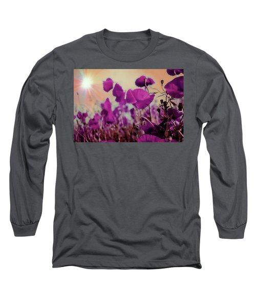 Poppies In Sunlight Long Sleeve T-Shirt