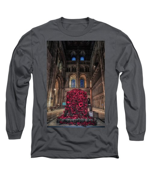 Poppy Display At Ely Cathedral Long Sleeve T-Shirt