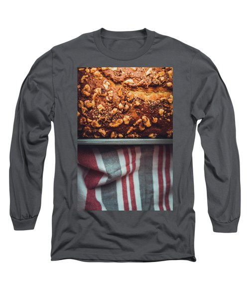 Portion Of Freshly Baked Banana Bread  Long Sleeve T-Shirt