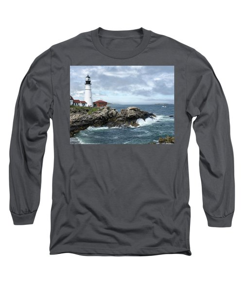 Portland Head Light House Long Sleeve T-Shirt