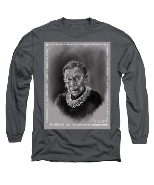 Portrait Of Ruth Bader Ginsburg Long Sleeve T-Shirt