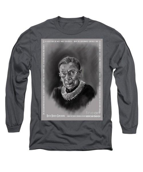 Portrait Of Ruth Bader Ginsburg Long Sleeve T-Shirt