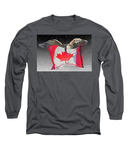 Proud To Be Canadian Long Sleeve T-Shirt