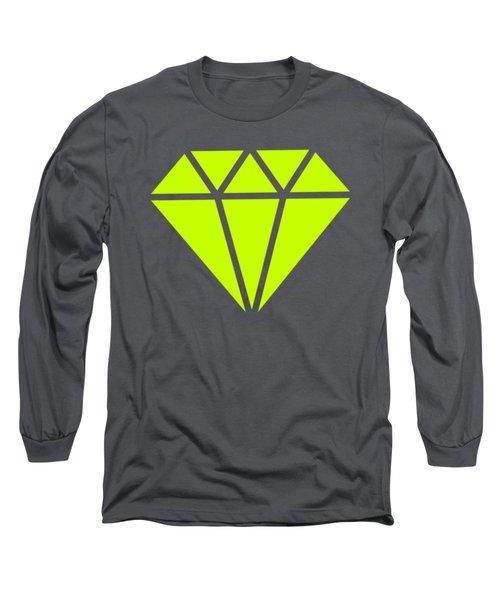 Purple Diamond Yellow Long Sleeve T-Shirt