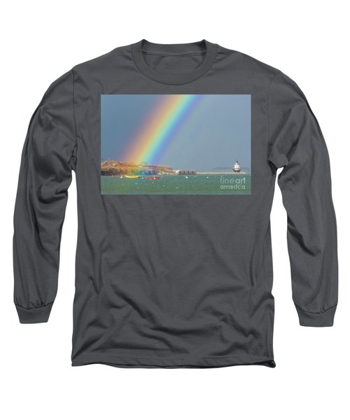 Rainbow At Spring Point Ledge Long Sleeve T-Shirt