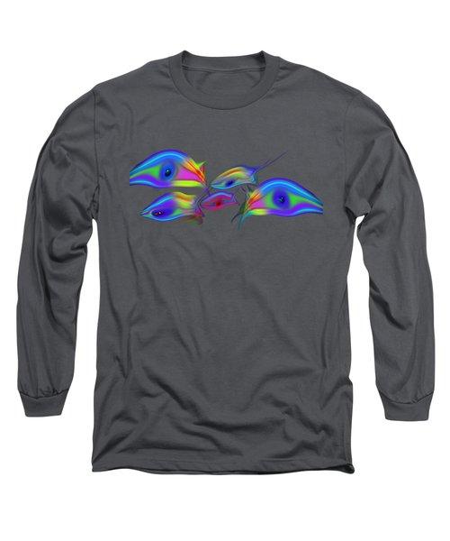 Rainbow Blue Fish Long Sleeve T-Shirt