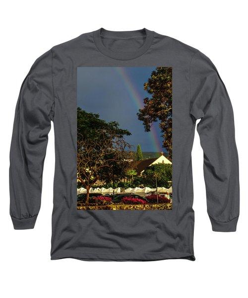 Rainbow Ended At The Church Long Sleeve T-Shirt
