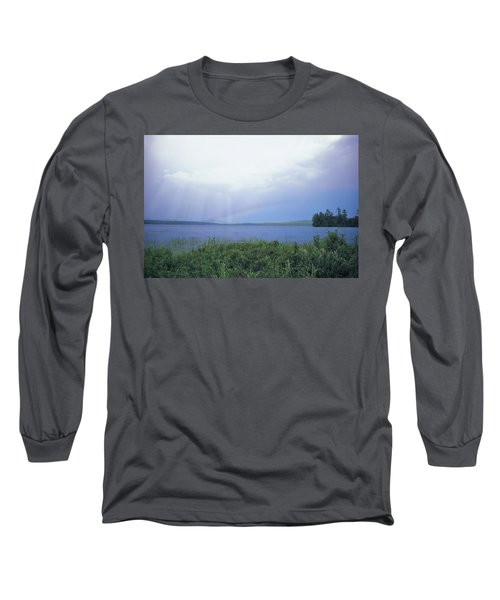 Rainbow Over Raquette Lake Long Sleeve T-Shirt