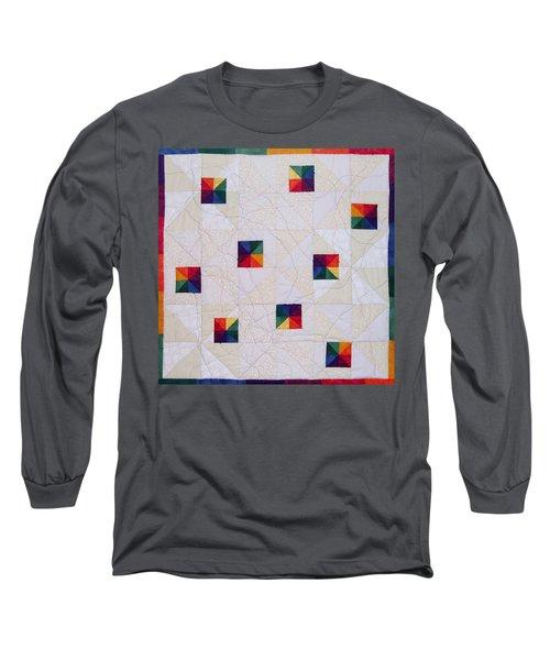 Rainbow Pinwheel Long Sleeve T-Shirt