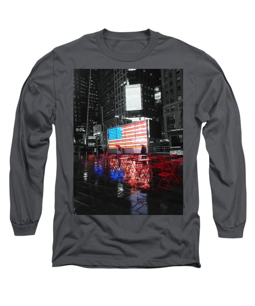 Rainy Days In Time Square  Long Sleeve T-Shirt