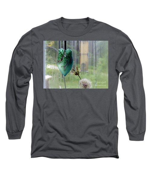 Rainy Morning At The Bird Feeder Long Sleeve T-Shirt